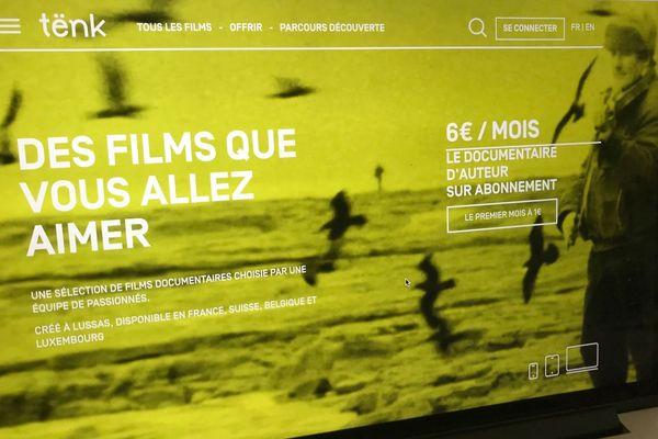 La page d'accueil de Tënk, plateforme SVod de films documentaires d'auteur