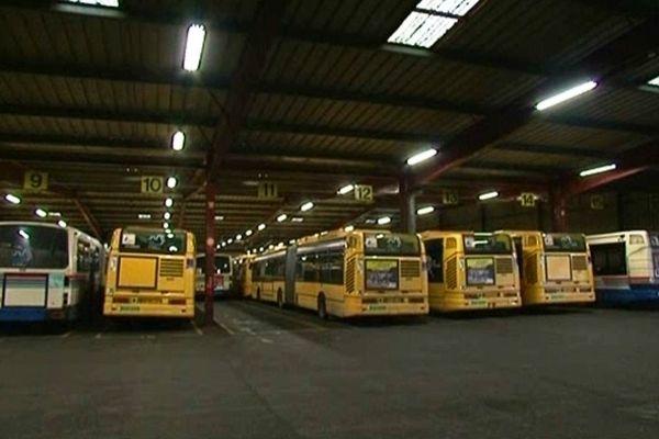 Le dépôt des bus TCRM de Metz