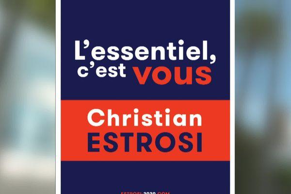 L'affiche de campagne du second tour de Christian Estrosi.
