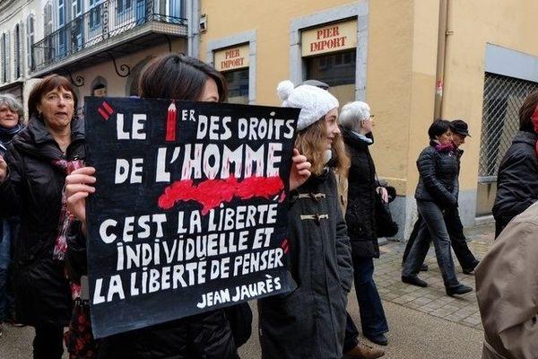 Manifestation républicaine à Tarbes : deuxième mobilisation exceptionnelle