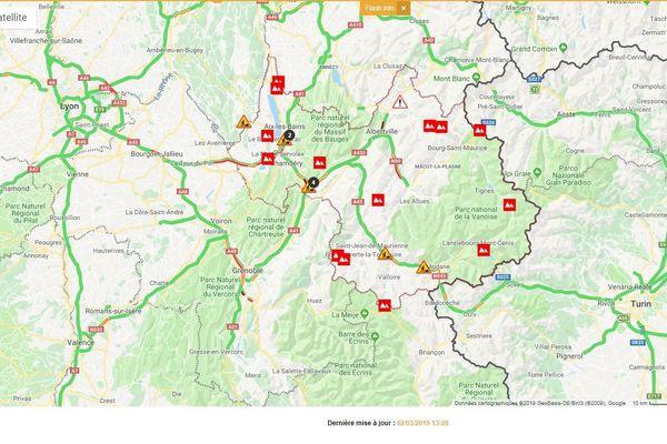 Les axes routiers qui relient les stations de ski aux grandes agglomérations sont moins engorgés que la semaine dernière.