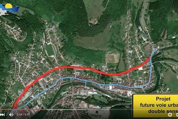 Le nouveau plan de circulation d'Ornans