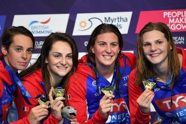 Margaux Fabre, Beryl Gastaldello, Charlotte Bonnet et Marie Wattel sont championnes du relais 4x100m dames !