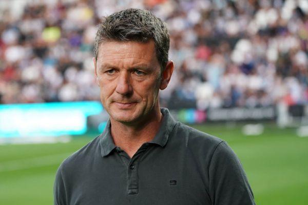 L'entraîneur du Dijon FCO, Stéphane Jobard, lors du match contre Angers, pour le compte de la quatrième journée de Ligue 1, le 31 août 2019.