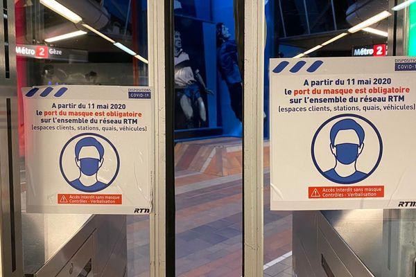 A partir du 11 mai, le port du masque est obligatoire à Marseille dans les transports en commun.