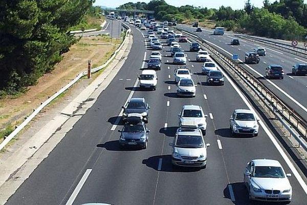 Montpellier - les voitures du l'A.9 - août 2013.