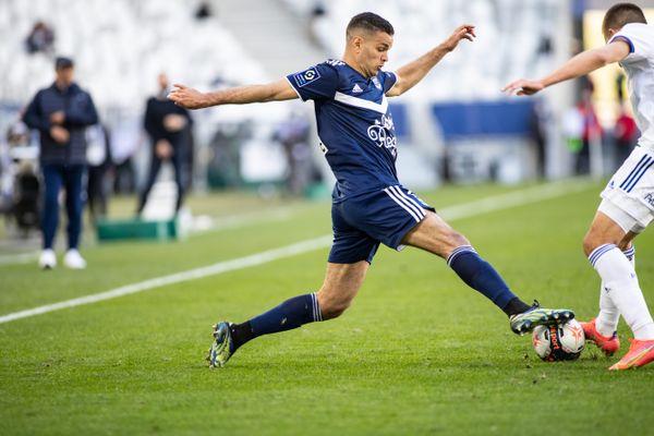 Ben Harfa lors de la rencontre des Girondins face à Strasbourg le 4 avril 2021