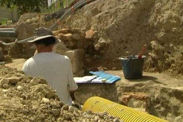 Les fouilles archéo sous la future ligne 4 du tramway