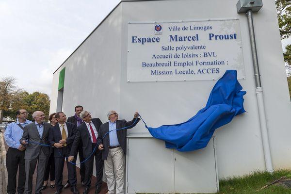 Inauguration de l'Espace Marcel-Proust à Beaubreuil