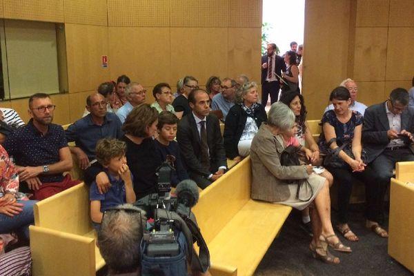 La salle d'audience du délibéré du procès Saint-Médard