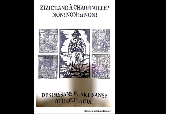 L'affiche anti zic'land de l'association terra nostra