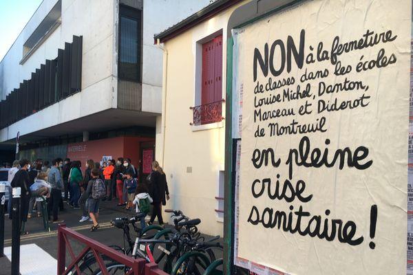 A Montreuil, quatre écoles sont concernées par des fermetures de classes.