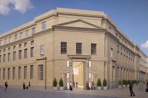 L'entrée de l'hôtel donnera sur la place Saint-Sauveur