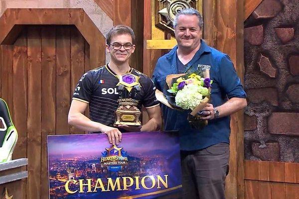 """Théo """"Felkeine"""" Dumont lors de sa victoire au Masters Tour Seoul."""