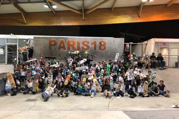 Au skatepark EGP, dans le XVIIIe arrondissement de Paris, lors des Portes Ouvertes Realaxe en septembre dernier.