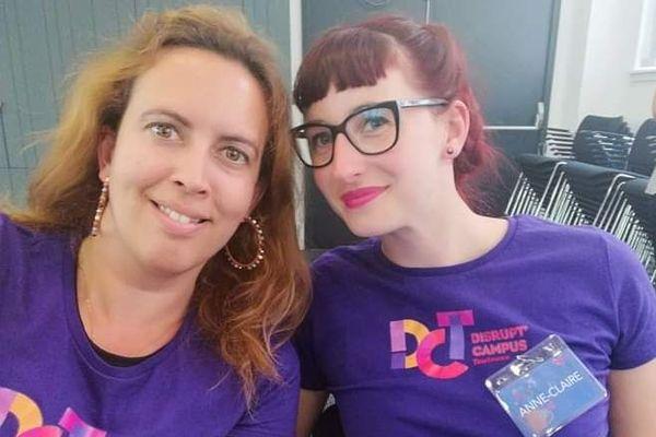 Anne-Claire, à gauche, et Julie, à droite, ouvriront bientôt un salon de thé-librairie à Castelnaudary