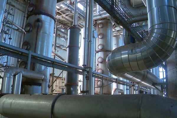 Vauvert (Gard) - la distillerie de biocarburants UDM- juin 2020.