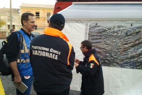 Couiza (Aude) - les secours de la sécurité civile et l'exercice européen - 16 novembre 2012.