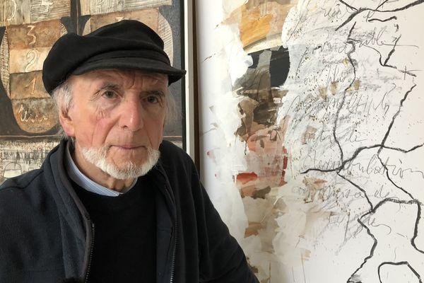 Henri Girard, dans son atelier à Quimper