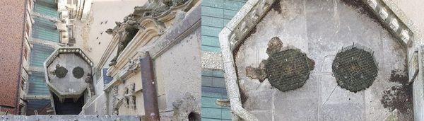 Vue de deux pièges sur les hauteurs de la Cathédrale de Sens