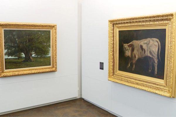Le Veau blanc de Gustave Courbet 1873 au musée Courbet d'Ornans.