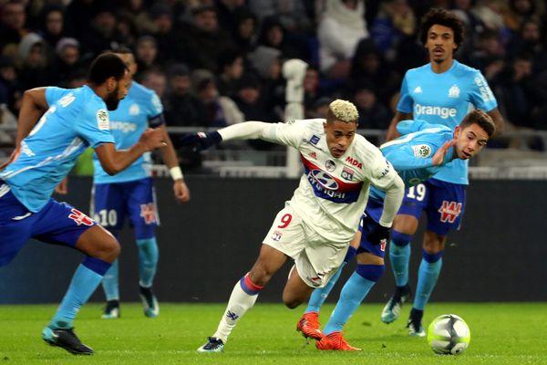 Mariano DIAZ (OL) en action : l'un des buteurs, face à Marseille, au Groupama stadium.