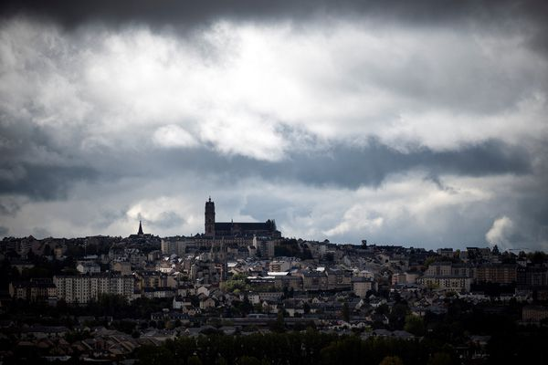 Rodez, préfecture de l'Aveyron, seul département d'Occitanie à droite, au premier tour du scrutin des élections départementales 2021.