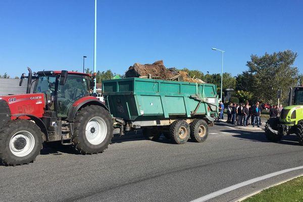 Des agriculteurs manifestent à Montauban à l'appel de la FDSEA