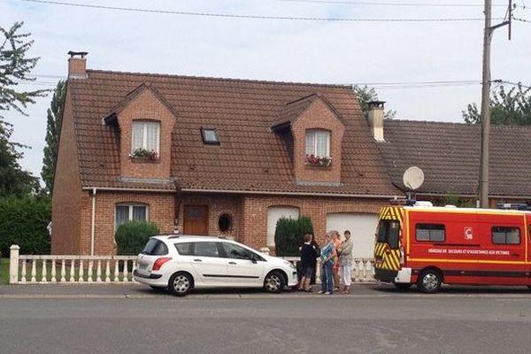 Rue Casimir Beugnet, à Fouquières-les-Lens ce mardi matin.