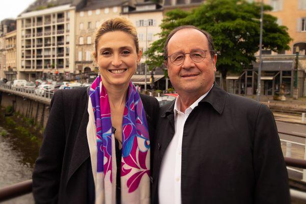 François Hollande et Julie Gayet à Tulle, juillet 2021.