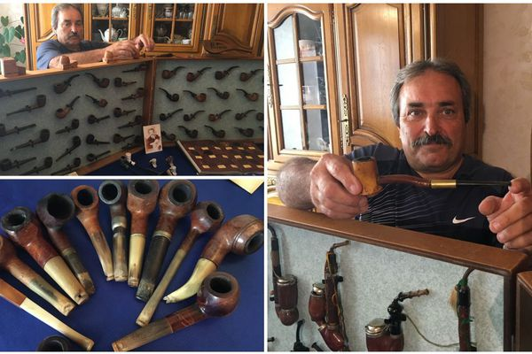 Un Loirétain, originaire de Pithiviers, possède une collection unique en France de plus de 600 pipes !