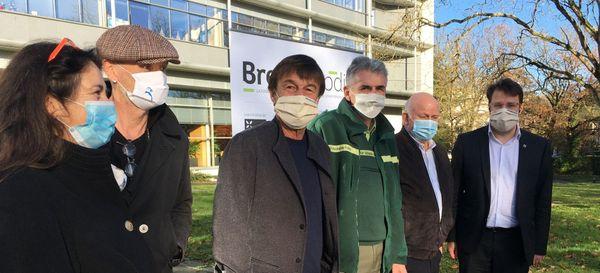 Représentants d'associations environnementales, Fondation Hulot et Conseil Régional après le lancement de Breizh Biodiv