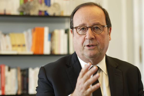 François Hollande, le 16 avril 2018