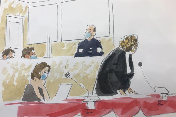 Maître Emmanuelle Franck avocate de plusieurs prévenus au procès de 18 roms bulgares devant le tribunal correctionnel de Toulouse