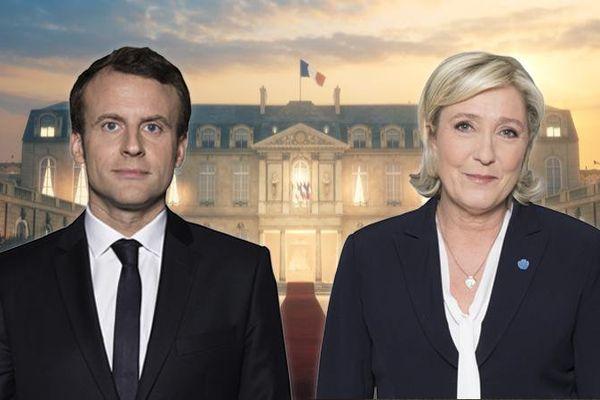 Emmanuel Macron et Marine Le Pen se sont qualifiés pour le second tour de l'élection présidentielle, le 23 avril 2017. (FRANCEINFO)