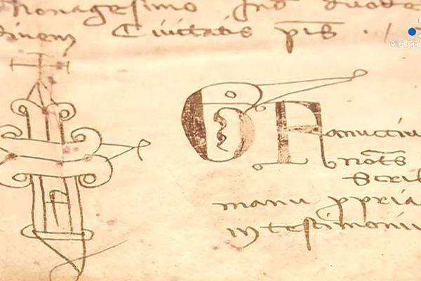 L'un des documents d'archive, vieux de près d'un millénaire, que l'on peut découvrir en parcourant l'exposition