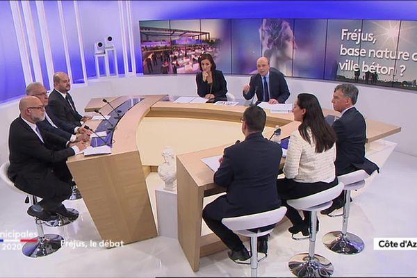 Municipales 2020 : débat à Fréjus animé par Nathalie Layani et Henri Migout.