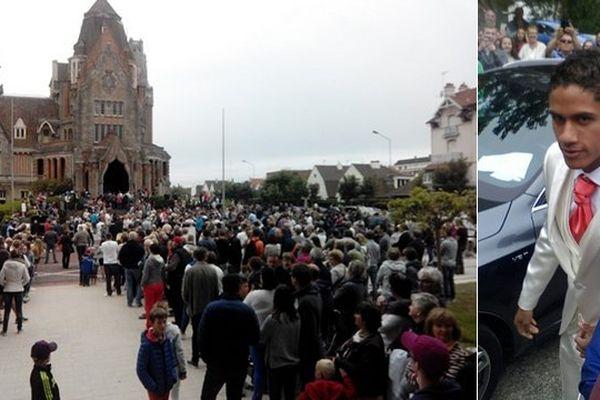 Le couple de mariés était attendu par la foule à la mairie du Touquet !