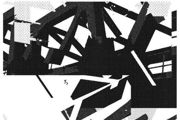 """Détail de la sérigraphie, """"Architectone"""", créée par Simon Morda-Cotel pour Impressions partagées."""