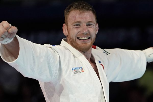 Axel Clerget, médaillé de bronze aux Mondiaux 2019 de judo, à Tokyo.