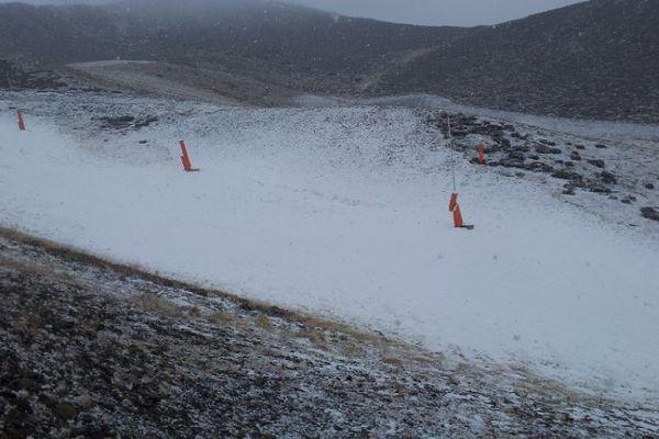 Canons à neige à Peyragudes.
