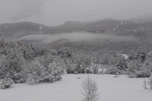 La neige tombée dans La Vallouise ce jeudi 14 novembre.