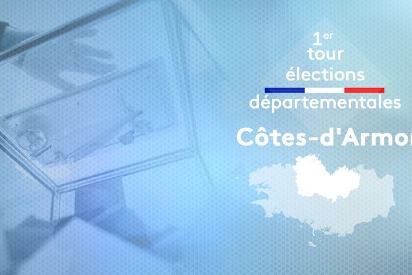1er tour des élections départementales dans les Côtes d'Armor