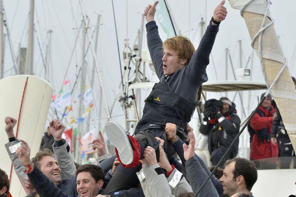 François Gabart, Vainqueur du Vendée Globe 2012 porté en vainqueur
