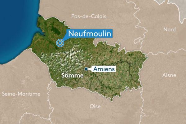 L'accident s'est produit au croisement de la rue des Croisettes et de la rue des Garennes à Neufmoulin.