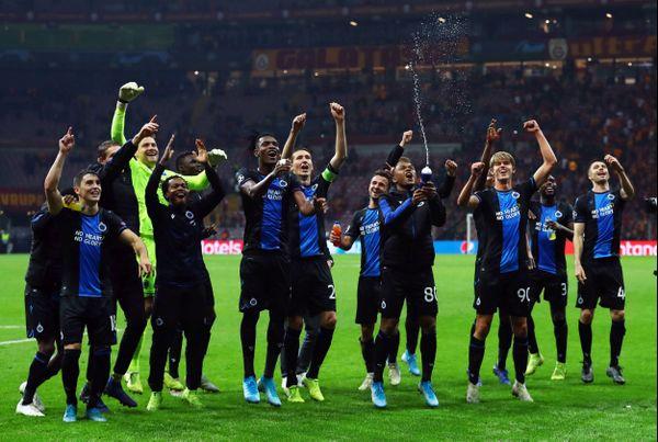Les joueurs du FC Bruges célébrant une victoire contre Galatasaray en Ligue des Champions en novembre dernier.