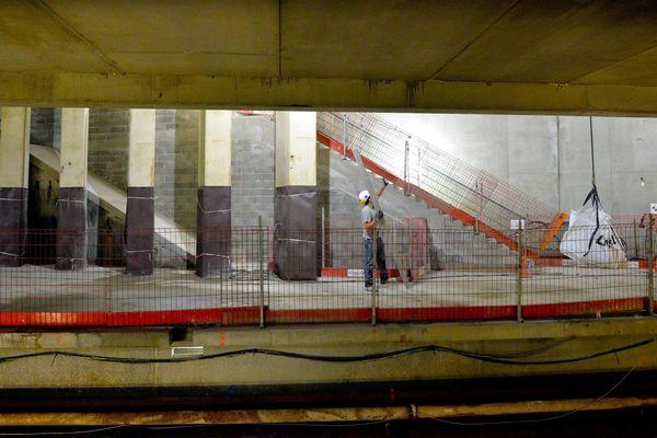 Chantier de la ligne B du métro - illustration
