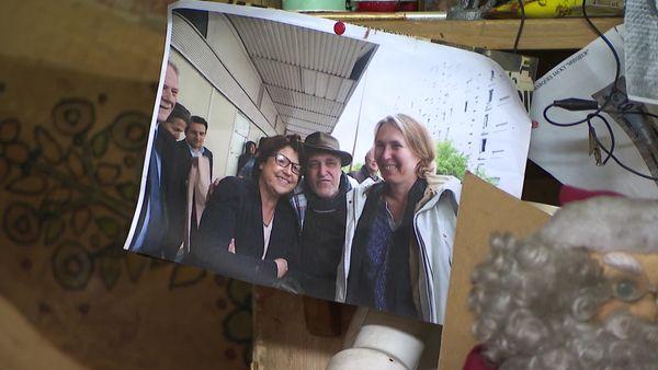 Souvenir d'une rencontre entre Jacky Marquet, représentant des brocanteurs, et Martine Aubry, maire de Lille.