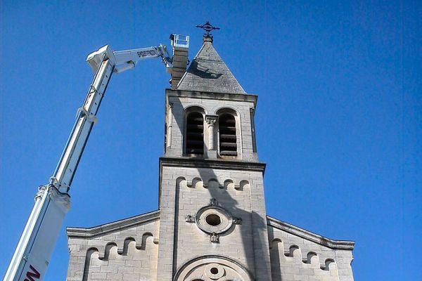 L'église, vieille de 300 ans, a été abîmée par la foudre - 2020.