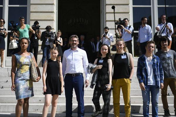 Virgile Mouquet, Greta Thunberg et plusieurs jeunes militants ont rencontré les parlementaires à l'Assemblée